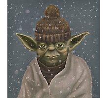 Christmas Yoda Photographic Print