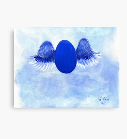 Halo angel egg Canvas Print