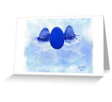 Halo angel egg Greeting Card