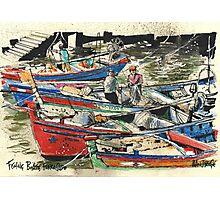 Fishing Boats, Ferragudo, Portugal Photographic Print