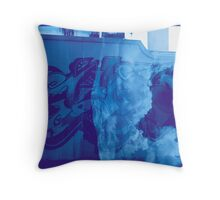 Cloudy Graffiti Throw Pillow