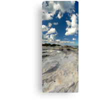 Panoramic slice of Australia with water pool and dramatic clouds Canvas Print