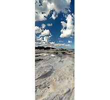 Panoramic slice of Australia with water pool and dramatic clouds Photographic Print