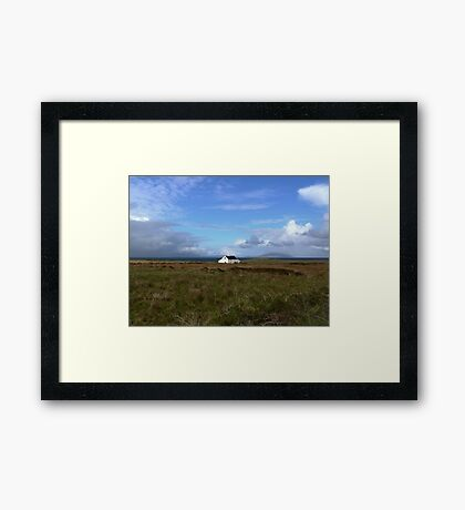 Old Irish coastal cottage, Co Kerry, Ireland Framed Print