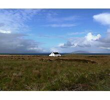 Old Irish coastal cottage, Co Kerry, Ireland Photographic Print