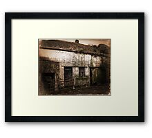 Old Rundown Irish Farm Framed Print