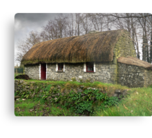 Old tatched Irish country famine cottage Metal Print