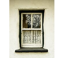 Irish Country Cottage Window Photographic Print