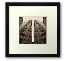 Hong Kong Apartments with sweeping angle Framed Print