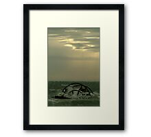 Ozone Shipwreck,Indented Heads Framed Print