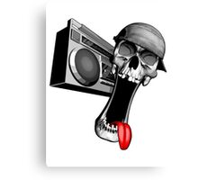 Skull With Boombox Canvas Print