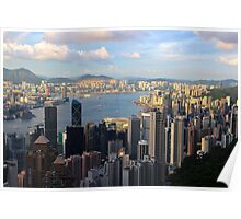 HK Panorama at Sunset III - Hong Kong. Poster