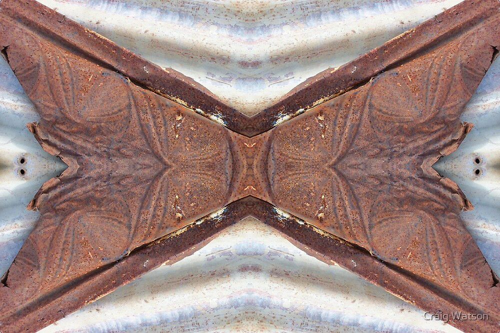 Rust and Corrugated Iron Kaleidoscope #1 by Craig Watson