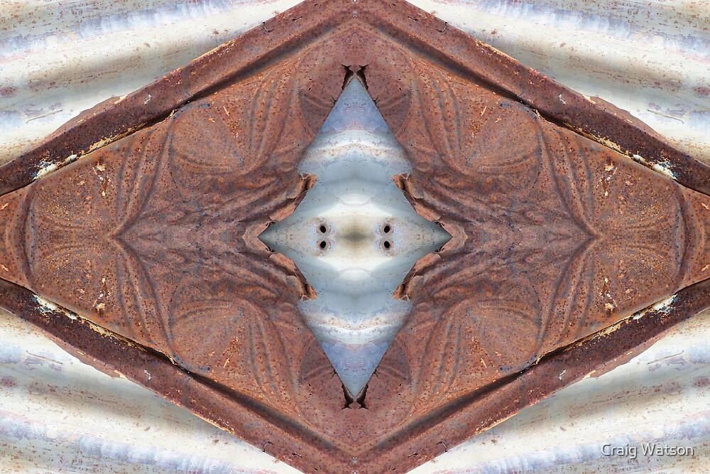 Rust and Corrugated Iron Kaleidoscope #3 by Craig Watson