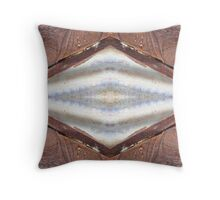 Rust and Corrugated Iron Kaleidoscope #4 Throw Pillow