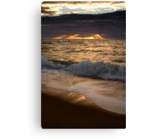 Sunset over Port Phillip Bay Canvas Print