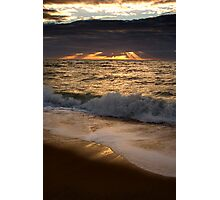 Sunset over Port Phillip Bay Photographic Print