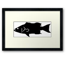 Scamp Fish Silhouette (Black) Framed Print