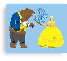 Brienne and the Bear Canvas Print