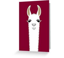 LLAMA PORTRAIT #3 Greeting Card