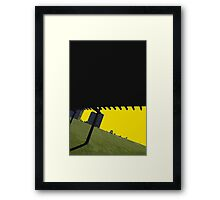 green hill Framed Print