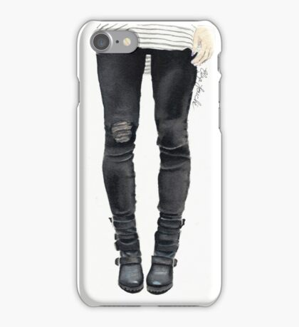 Watercolour jeans  iPhone Case/Skin