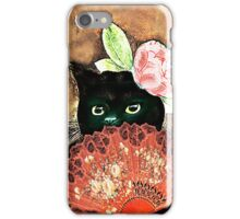 The Fan Cat Art iPhone Case/Skin