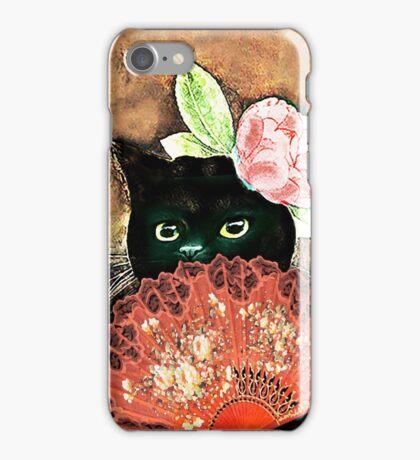 The Fan Cat Art iPhone Case/Skin