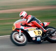 Yamaha TZ750 at Calder Park in the early 80's by Roy Thompson