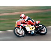 Yamaha TZ750 at Calder Park in the early 80's Photographic Print