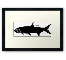 Tarpon Fish Silhouette (Black) Framed Print