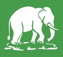 White Asian Elephants Ahead / Thai Elephant Trekking Traffic Sign Kids Clothes