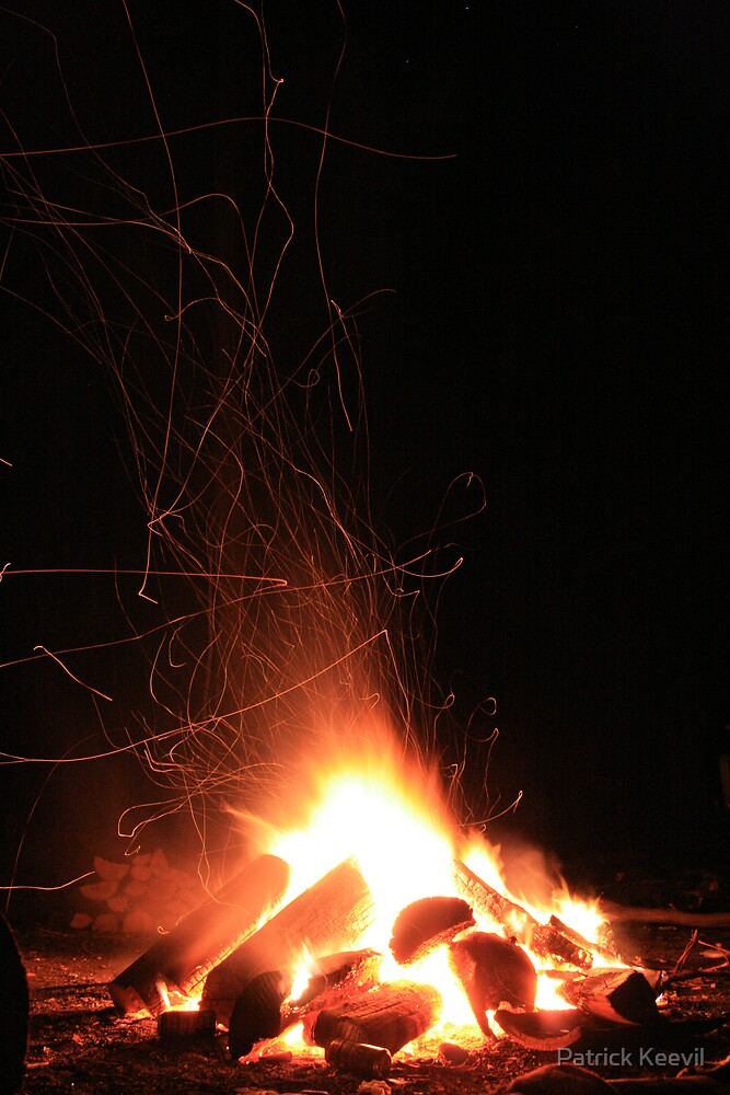 camp fire by Patrick Keevil