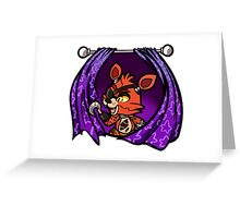 Foxy Five nights at freddy Greeting Card