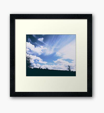 Wispy Georgian Sky Framed Print