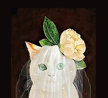 The Bride Cat Art by timelessfancy