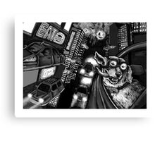 Admiral Q and the Eternal Nocturne Metropolis  Canvas Print