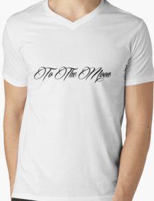To The Moon-Black Mens V-Neck T-Shirt
