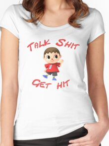 Talk shit, get hit Women's Fitted Scoop T-Shirt