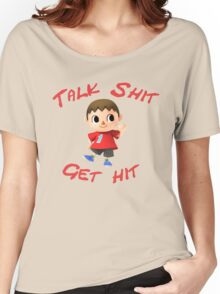 Talk shit, get hit Women's Relaxed Fit T-Shirt