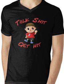 Talk shit, get hit Mens V-Neck T-Shirt