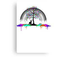 Melting Color Parasite Canvas Print