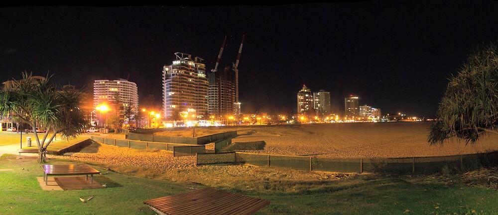 Greenmont Beach @ night. by aperture