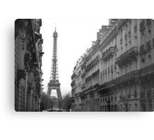 Down The Street - Paris Metal Print