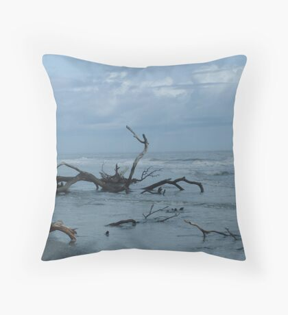 The Ocean Wins Throw Pillow