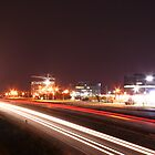Light trails from highway by niq702