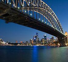 Sydney Harbour Bridge in Blue by Bradley Ede
