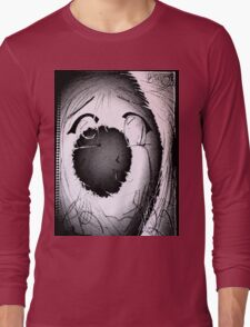 Anime in Sumi-e with adjusted lighting. Long Sleeve T-Shirt