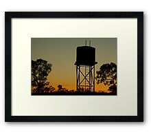 Outback Water Tank,N.T. Framed Print
