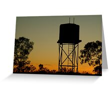 Outback Water Tank,N.T. Greeting Card